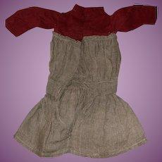 Antique Victorian Drop Waist Doll Dress