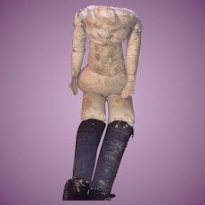 Antique Folk Art Early Cloth Rag Doll Body