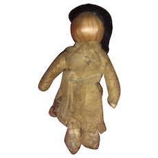 Antique Early Native American Miniature Primitive Corn Husk Folk Art Doll
