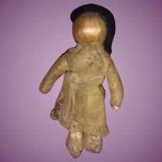 Antique Early Native American Miniature Primitive Corn Husk Folk Art Doll