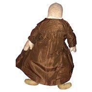 Antique Early Sawdust Stuffed Ohio Amish Cloth Rag Doll