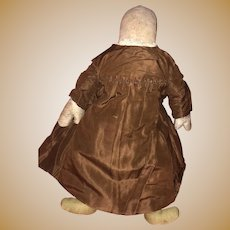 Antique Early Sawdust Stuffed Ohio Amish Cloth Rag Doll