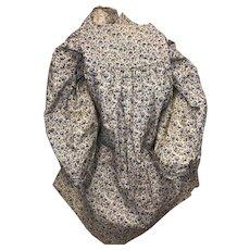 Antique Calico Hand Done Empire Waist Doll Dress