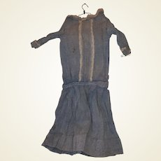 Antique Early Dropped Waist Doll Dress