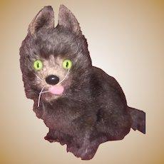 "German Fur Old Glass Eyed 4"" Tall Kitty"