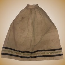 Antique Early Cotton Hand Stitched Doll Skirt