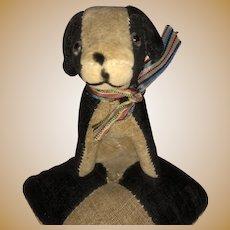 Old Miniature Figural Sewing Velvet Dog Pincushion