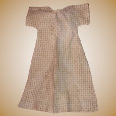 Antique Early Calico 19th Century Doll Dress From Pa.