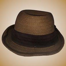 Antique Salesman Sample Gentleman's Hat Marked Fairy