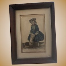 Antique Early Hand Colored Steel Engraving