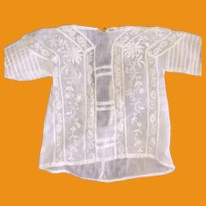 Antique Old Lace And Embroidered Doll Blouse