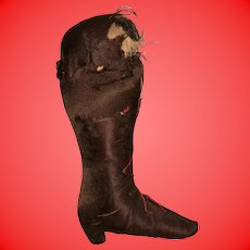 Antique Early 19th Century  Satin Pin Cushion Boot