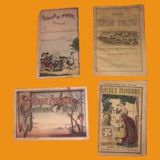 Antique Rare Early Mid 19th Century Miniature Child's School Paper Collection