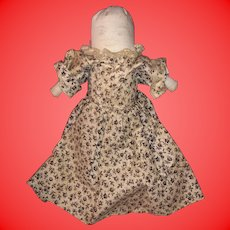 Antique American Folk Art Miniature Pencil Face Child's Rolled Pocket Cloth Rag Doll