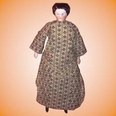 Antique German 19th Century China Head Dollhouse Doll