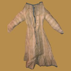 Antique 19th Century Early Striped Fashion Doll Dress