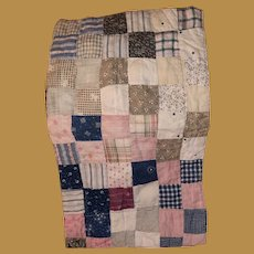 Antique Calico Square Pa Doll Quilt Sampler