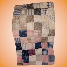 Antique Calico Square Pa Doll Quilt Sampler