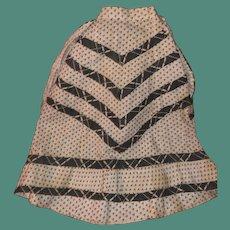 Antique Cotton 19th Century Hans Made Calico Fashion Doll Shirt