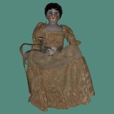 Antique 19th Century Dollhouse China Head Doll