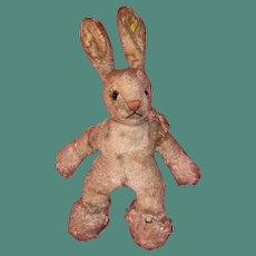 Old Mohair Steiff Folky Bunny Rabbit Bunny With Button