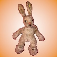 Old Mohair Steiff Folky Bunny Rabbit Bunny With Button