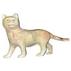 Antique Old Made In USA Rare Celluloid Kitty Cat Figurine Toy
