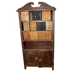 Tynietoy Wooden Dollhouse Miniature Bookcase With Books