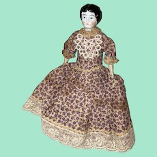 Antique Late 19th Century German China Head Dollhouse  Doll