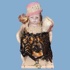 Antique German All Bisque Kestner 620 Dollhouse Doll