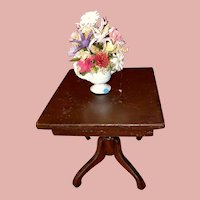 Old Dollhouse Miniature Floral Vase Accessory