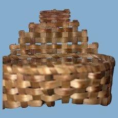 Antique Miniature Rare Splint Woven Basket