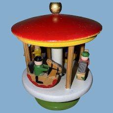 Old German Wooden Erzgebirge Carousel Floor Toy