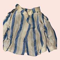 Antique Satin Striped Smaller Doll Blouse