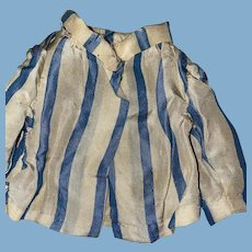 Antique Satin Striped Smaller Doll Blouse