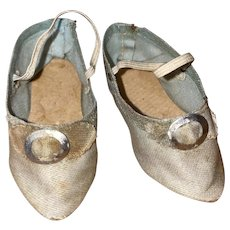 Antique Pointed Fabric Buckle Top Fashion Doll Shoes