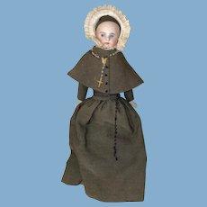 Antique Sonnenburg Belton closed Mouth Rare Nun Fashion Doll