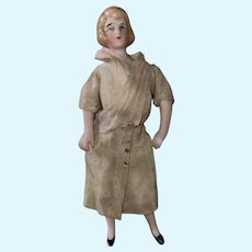 Antique German Molded Hair Dollhouse Doll