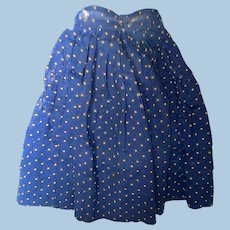 Antique Indigo Polka Dot Doll Skirt