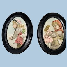 Antique Victorian Miniature Lithograph Dollhouse Prints