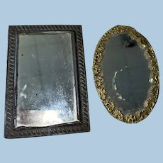 Antique Dollhouse Miniature Pair Of Mirrors