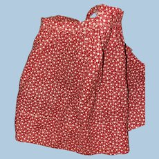 Old Red Calico Doll Apron