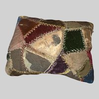 Antique Early Victorian Crazy Quilt Sewing Pin Cushion