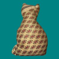 Old Cloth Folk Art Miniature Primitive Kitty