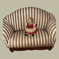 """Antique Carl Horn Miniature Jointed 2"""" Miniature Doll"""