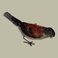 Schuco German Wind Up Mohair Pecking Bird