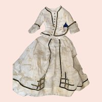 Antique Early 2 Piece 19th Century Doll Outfit
