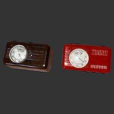 Vintage Dollhouse Miniature Hard Plastic Rare Renwal Radios