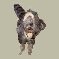 Steiff Vintage Script Button Raccy Raccoon