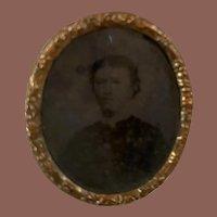 Antique Early Miniature Portrait Photograph Dollhouse Miniature